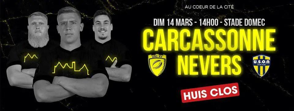ProD2-Radio Rugby : CARCASSONNE/ NEVERS (J23), écoutez le direct intégral !