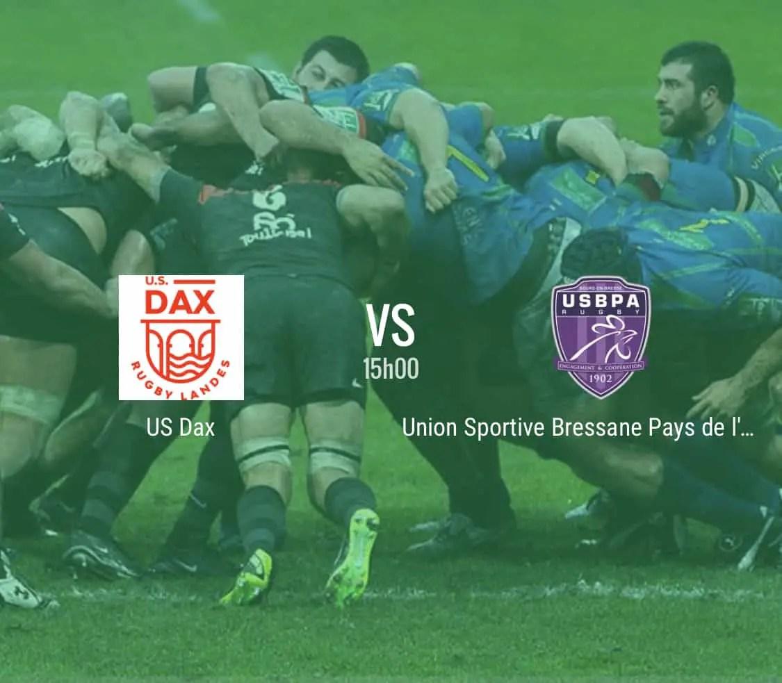 Rugby Nationale : Dax – Bourg en Bresse en direct