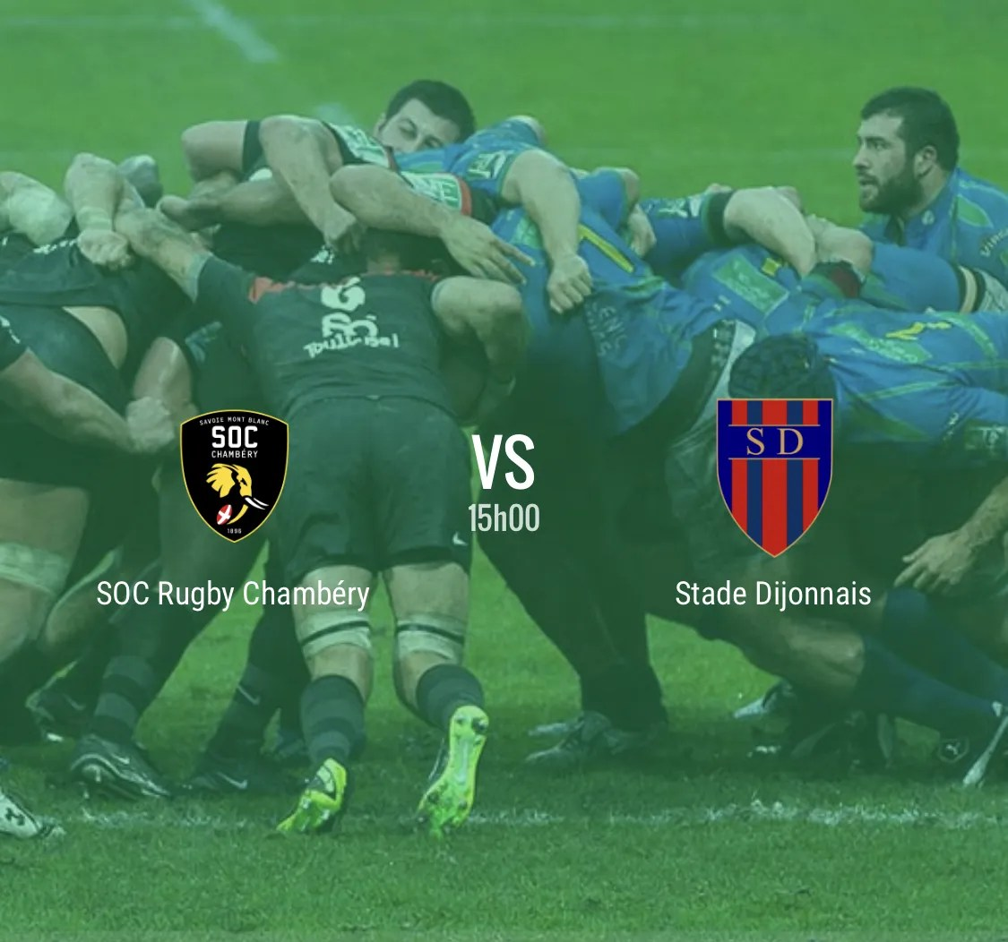 Rugby Nationale : Chambéry – Dijon en direct