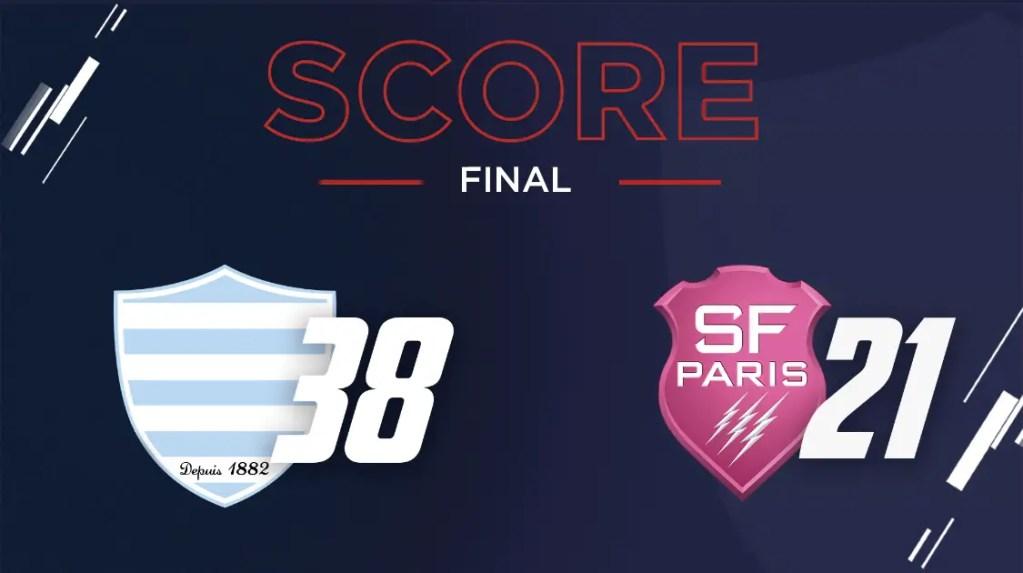 Top 14: le Racing 92, vainqueur du Stade français 38-21, qualifié pour les demi-finales