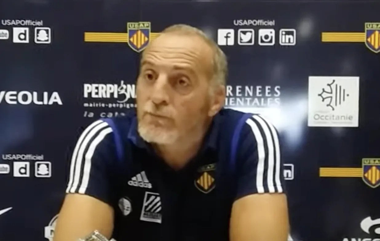 """Pro D2: """"Beaucoup d'émotion"""" pour l'entraîneur de Perpignan et ses joueurs"""