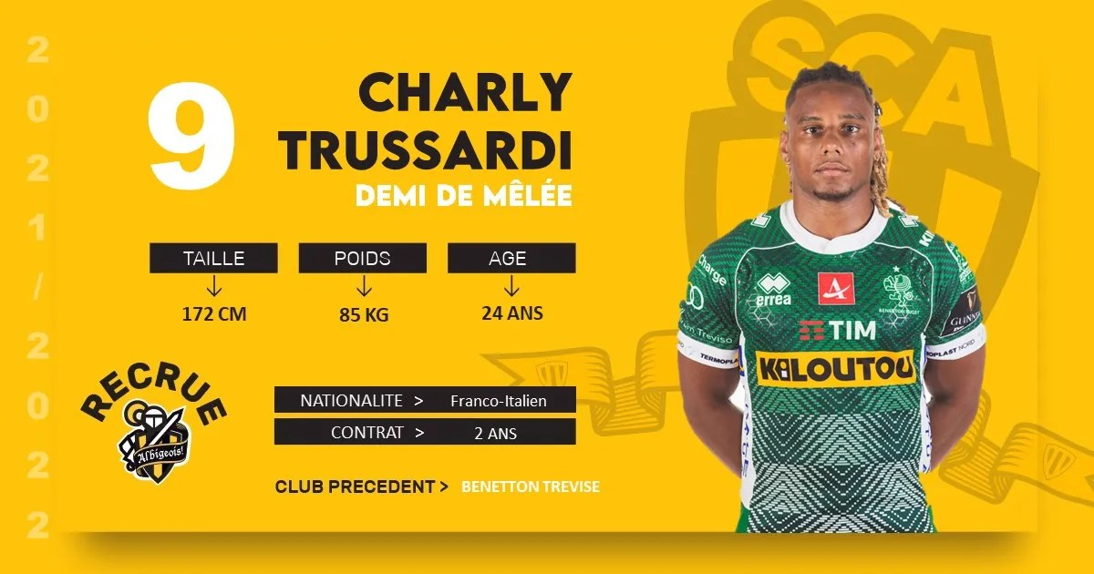 Rugby-Nationale. Transferts: Charly TRUSSARDI s'engage avec Albi.