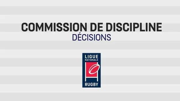 Pro D2 : La commission de discipline sanctionne quatre joueurs.