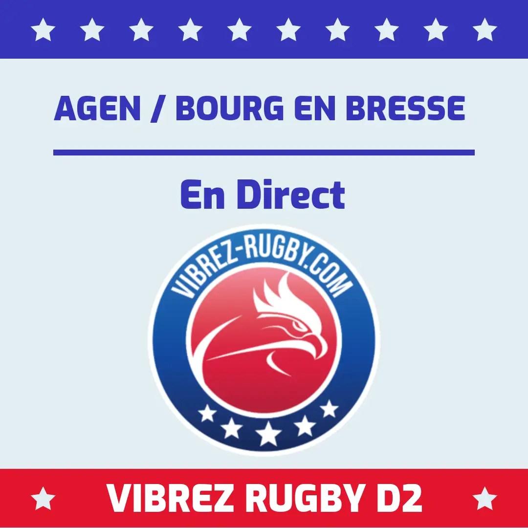 Agen Bourg En Bresse en direct