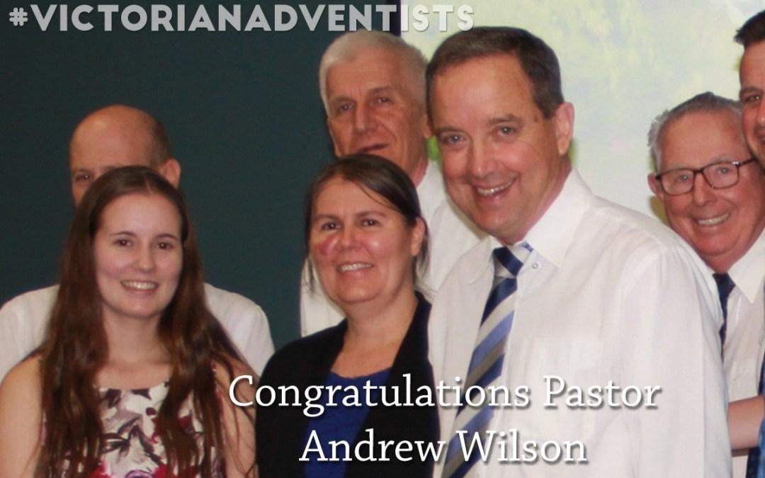 Congratulations Andrew