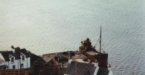 Puffer docked at quay prior to loading or unloading