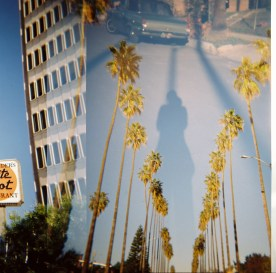 Double Exposure Palm Trees Los Angeles Holga