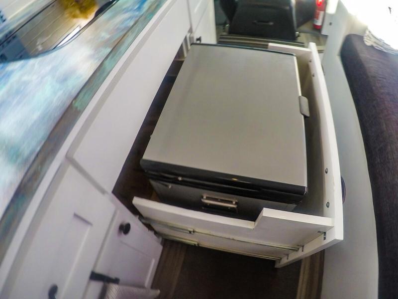 Fridge in Slide-out Drawer