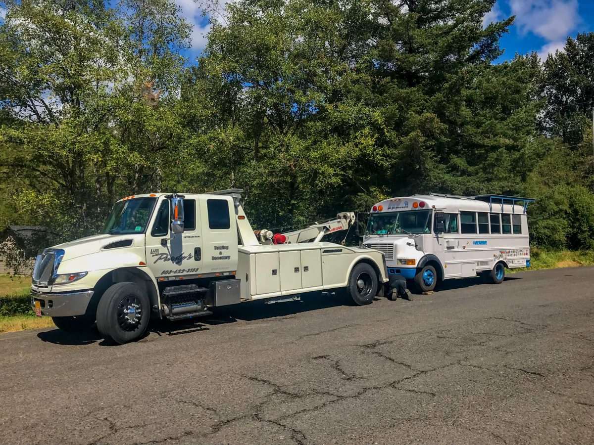 bus towing, breakdown, good sam roadside assistance