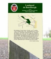 Toegangsbord landgoed De Batenborgh bij het Arresveld Winterswijk