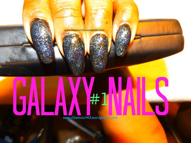 Space Nails Art Design