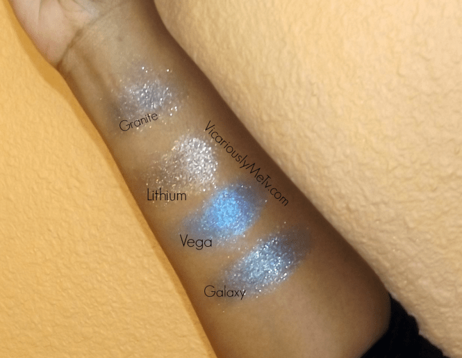 Swatches of Moondust Palette on Dark Skin