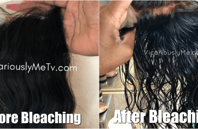 How to bleach closure before and after