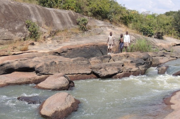 School river crossing in Murehwa, Zimbabwe