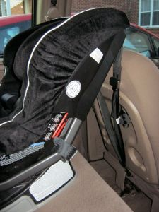 Britax Boulevard rear facing tethered to the designated forward facing anchor point in the row ahead.