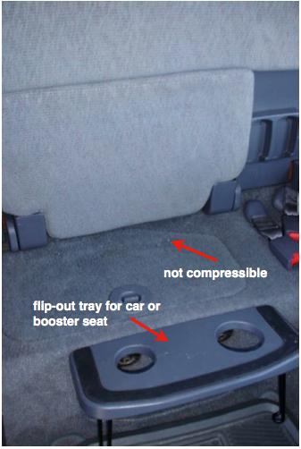 A1 flip down back seat