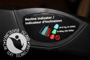 recline indicator