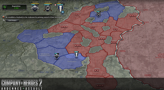 MetMapBiggerDetailLogo - Company of Heroes 2: Ardennes Assault PC review