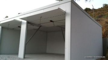 Garaje prefabricado panel sandwich sin pared divisoria