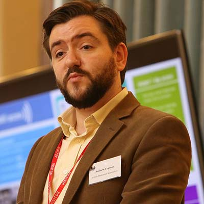Photo of Andrew Copson from British Humanist Association and IHEU at October 2016 summit on freedom of religion and belief