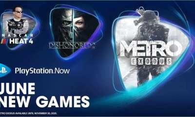 PlayStation Now de Junho, novos jogos ingressam no serviço! Metro Exodus, Dishonored 2 e NASCAR Heat 4 são três dos oito novos jogos.