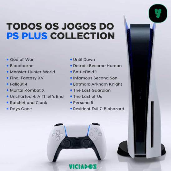 Todos os jogos do PS Plus Collection do PS5.