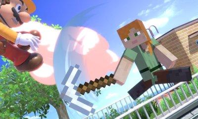 Minecraft chegou ao Super Smash Bros. Ultimate, e com ele o estágio do Minecraft World, que terá diferentes biomas selecionáveis.