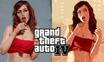 Depois de Ossein Diba recriar a Cover Girl de GTA San Andreas, o artista 3D decidiu agora recriar a versão foto-realística de GTA 4.
