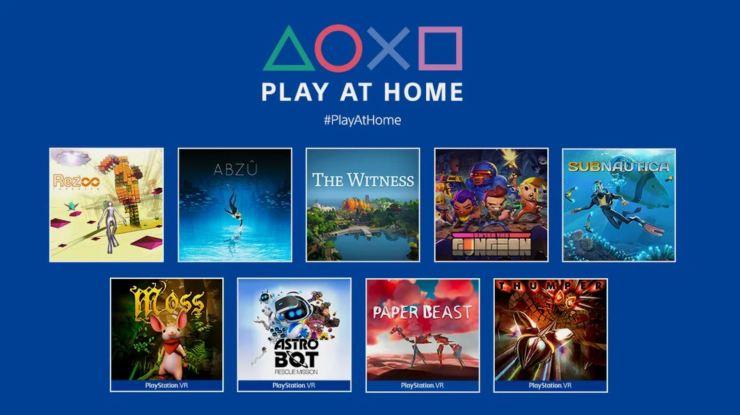 Alguns dos jogos que vão ser oferecidos durante a inciativa Play at Home .