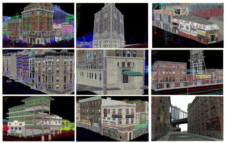 Algumas imagens de GTA IV  durante o seu desenvolvimento.