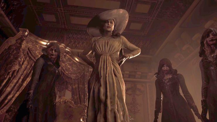 Lady Dimitrescu e suas filhas.