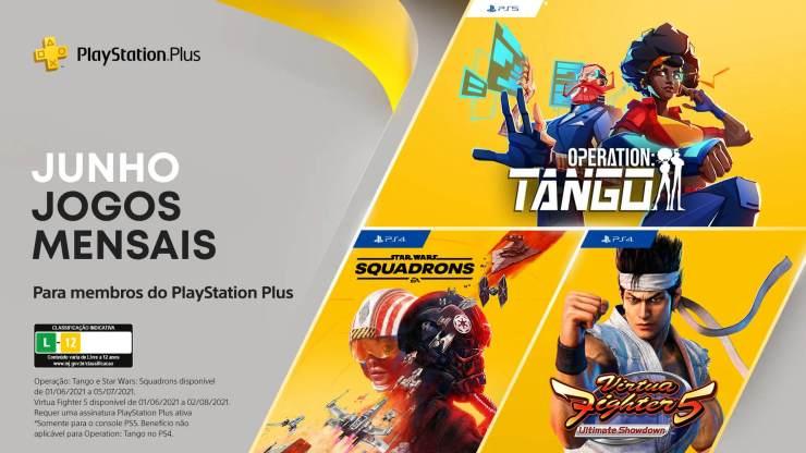 Operation: Tango, Virtua Fighter 5: Ultimate Showdown e Star Wars Squadrons foram os jogos da PS Plus de Junho.