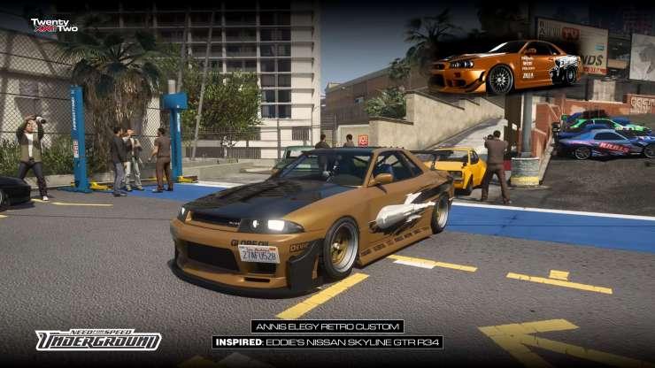 Aniis Elegy Retro é o carro do Eddie em Need For Speed Underground