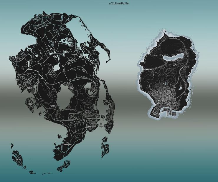 Suposto mapa vazado recriado por ColonelPuffin.