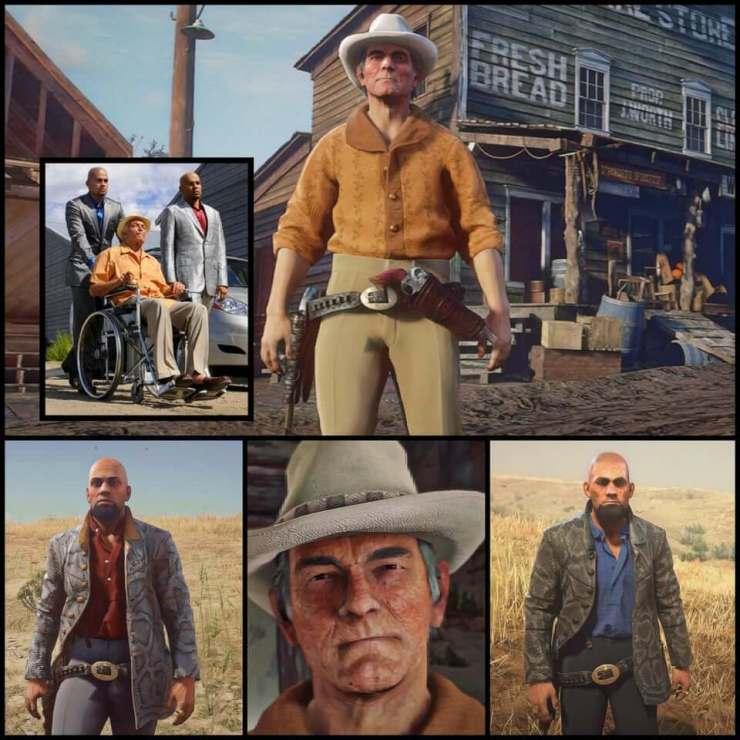 Hector, Leonel e Marco Salamanca de Breaking Bad recriados no modo online de Red Dead Redemption 2.