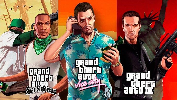 GTA 3, Vice City e Grand Theft Auto San Andreas devem ser relançados pela Rockstar Games para os consoles da atual e da nova geração.
