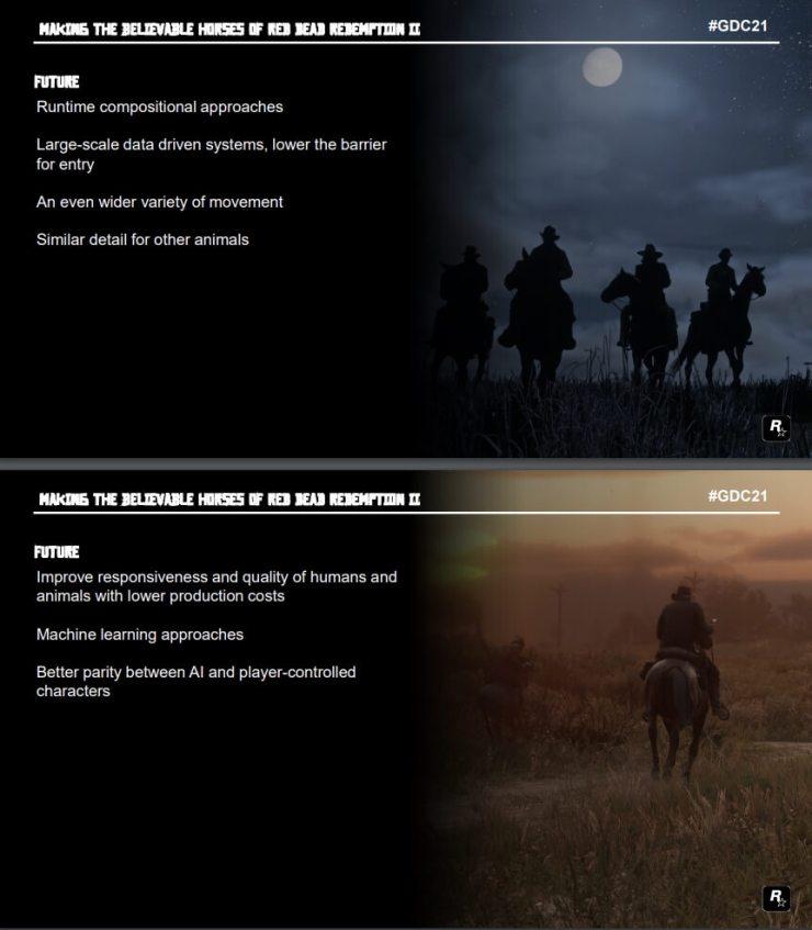Parte da apresentação detalhando a tecnologia da Rockstar Games que vai ser empregada em futuros jogos como GTA 6.
