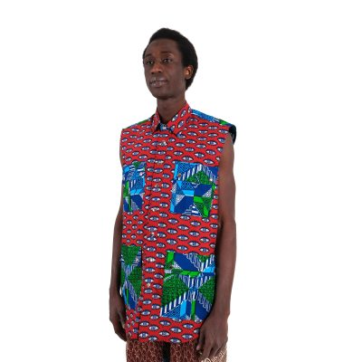 Sleeveless African shirt VDSSL6