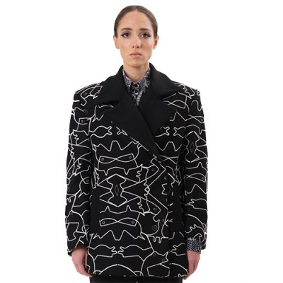 Embroidered Coat JC307