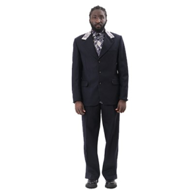 Kwame Classic Single Breasted Jacket JK002-BL