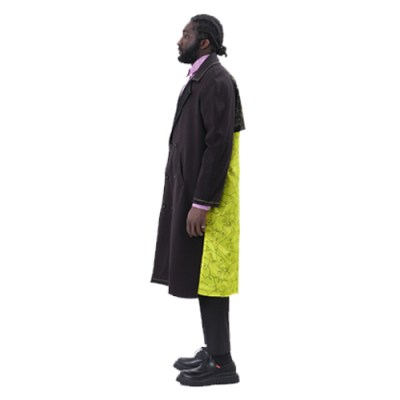 Ekuafo Double-breasted trench Coat JT005