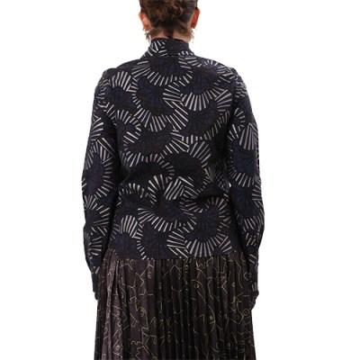 Hyeete Classic Cotton Shirt SH001-BLU/GLD