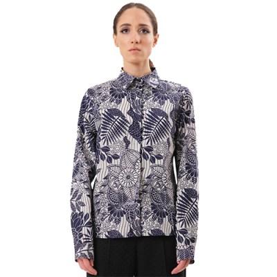 Classic Cotton Shirt SH001-WHT/BLU
