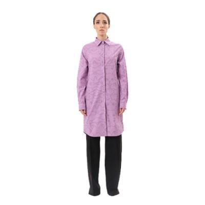 Long Cotton Shirt SH002-PRLE