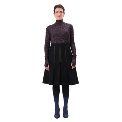 Dwannwi Folders Skirt SL303