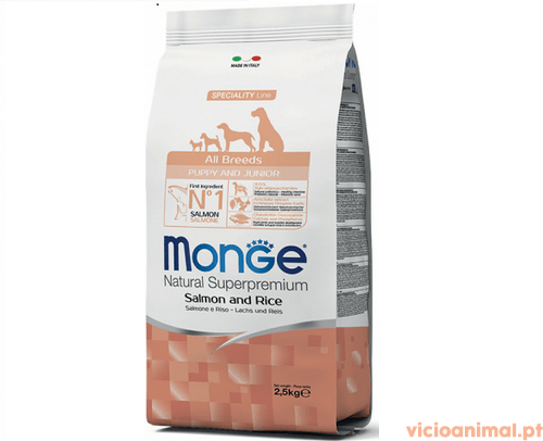 Monge All Breeds Puppy Salmão & Arroz