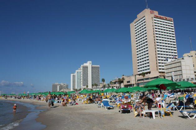 Praias deliciosas em Tel Aviv, Israel