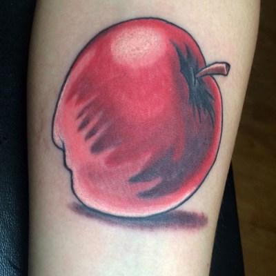 Apple michigan color tattoo