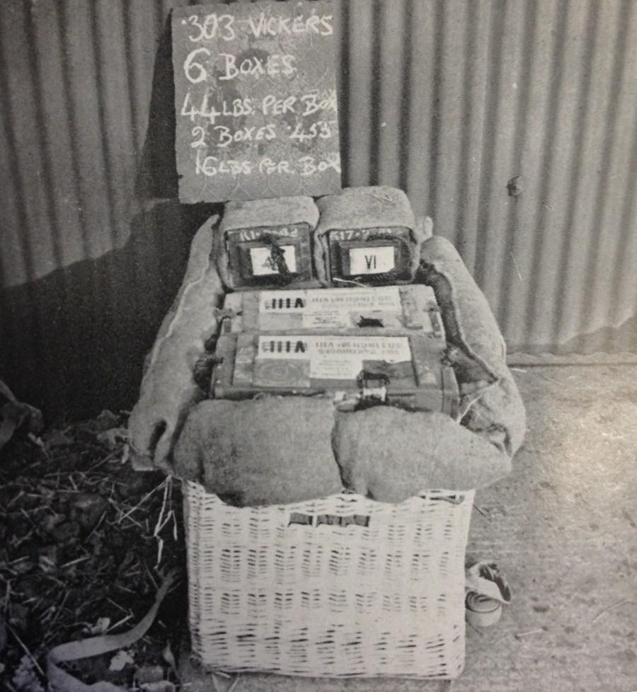 Method packing ammunition in pannier