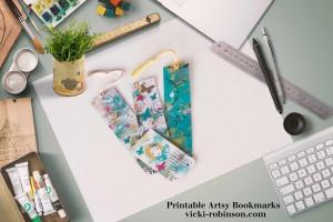 Artsy Printable Bookmarks vicki-robinson.com